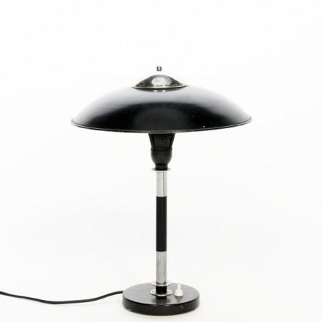 Black/ chrome table lamp