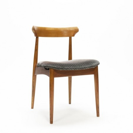 Scandinavian chair grey upholstery
