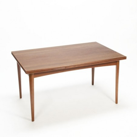 Scandinavian dinner table in teak