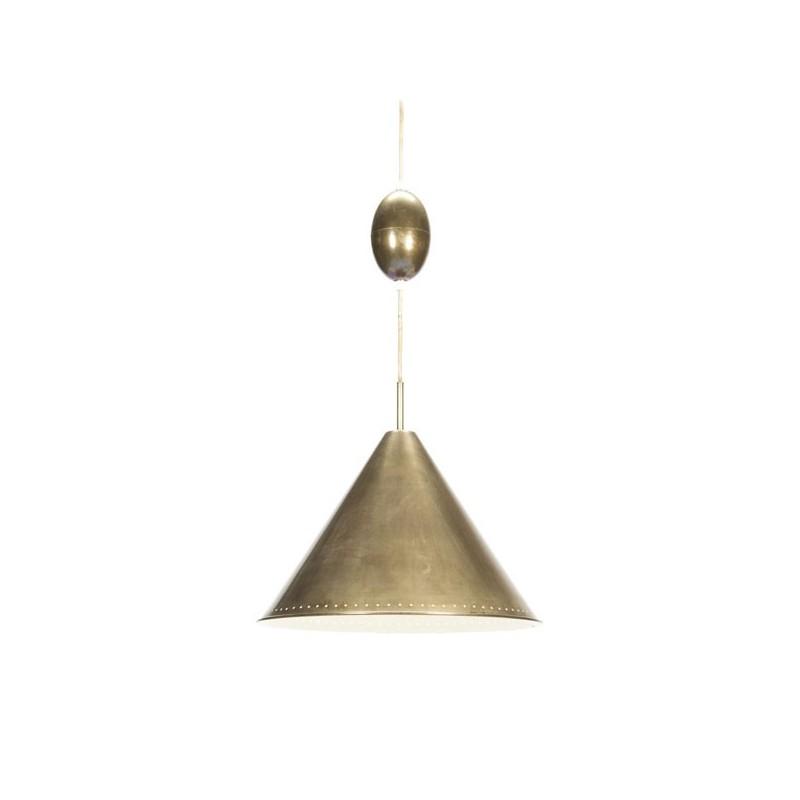 Large brass cone pendant
