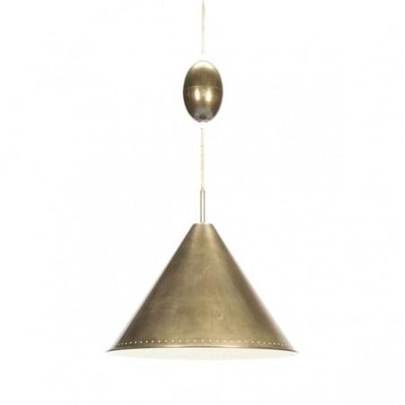 Grote koperen kegel hanglamp