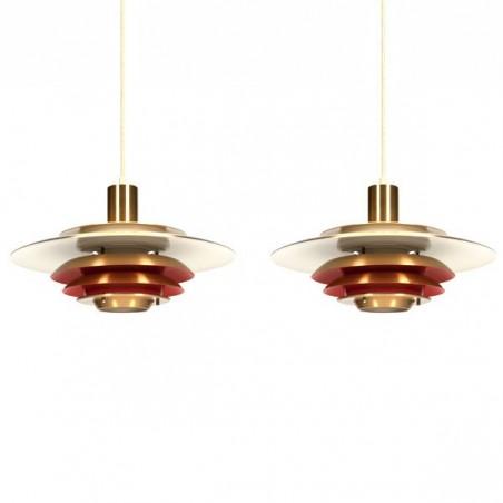 Set van 2 Scandinavische hanglampen