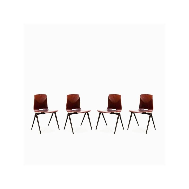 Set van 4 industriele Thur op seat stoelen