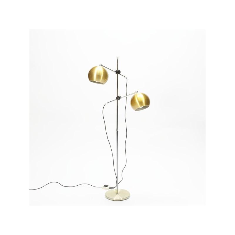 Staande lamp met 2 bollen