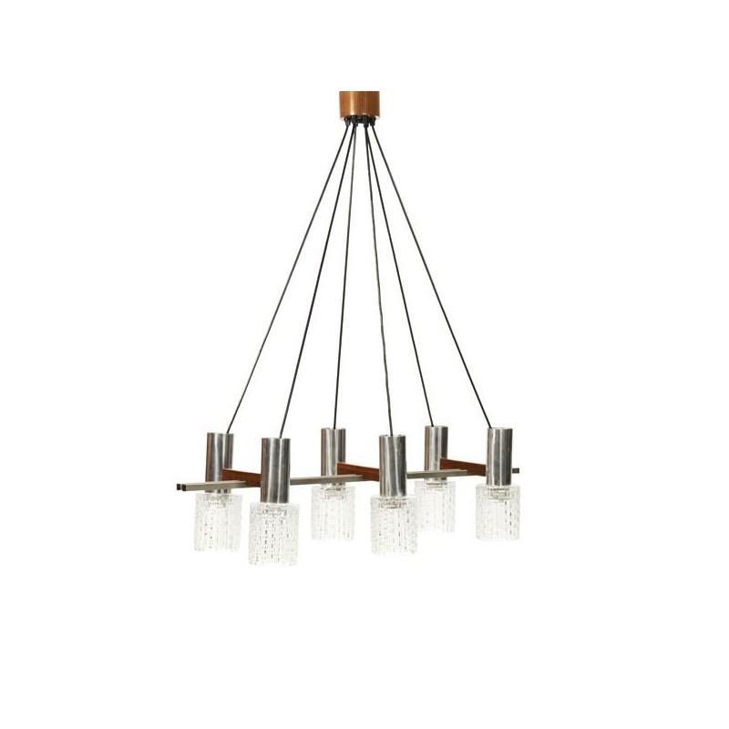 Grote hanglamp met glazen kelken