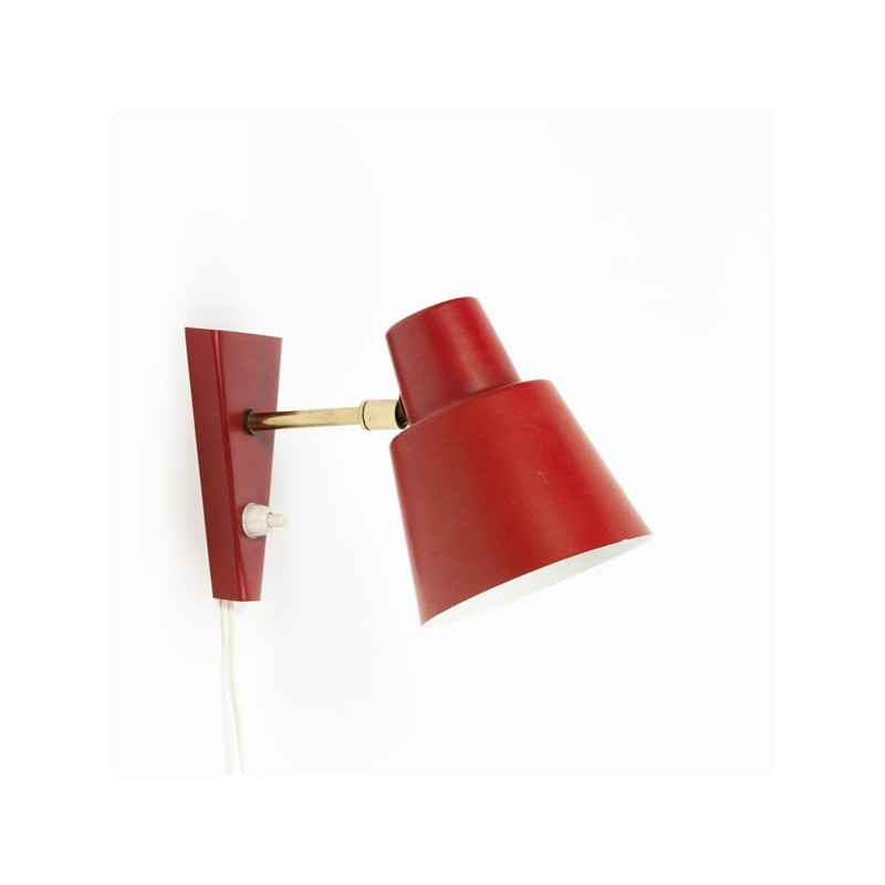 Red wall lamp