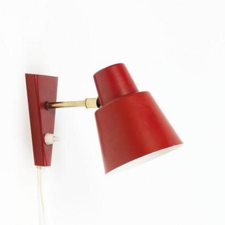 Rode wandlamp