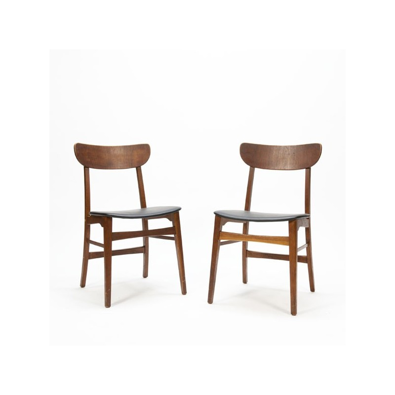 Set van 2 teakhouten stoelen