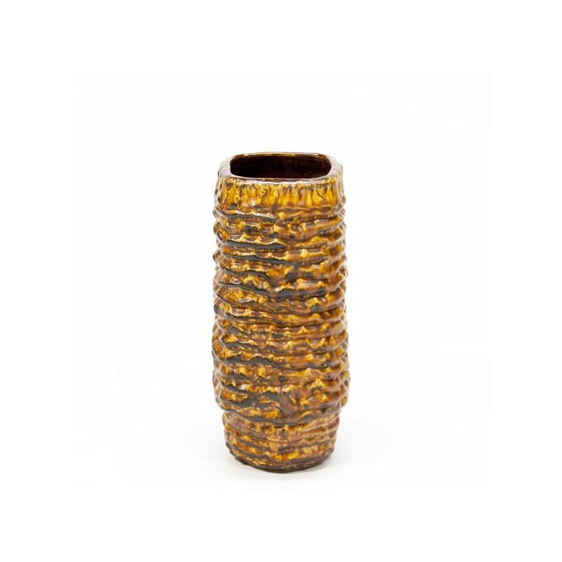 West Germany vase knurl