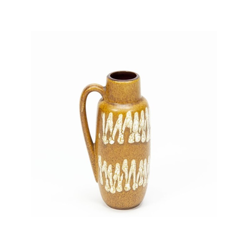 Small West Germany vase brown