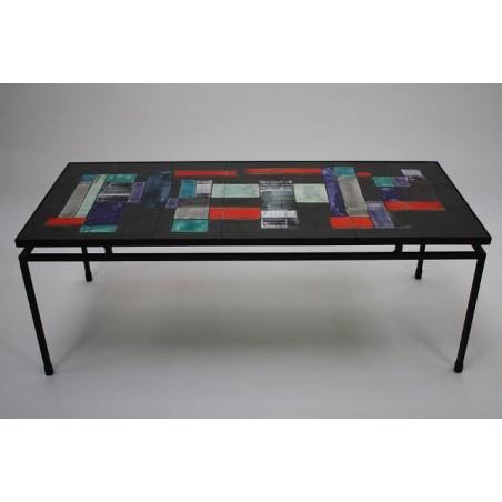 Belarti Tegeltafel zwart frame
