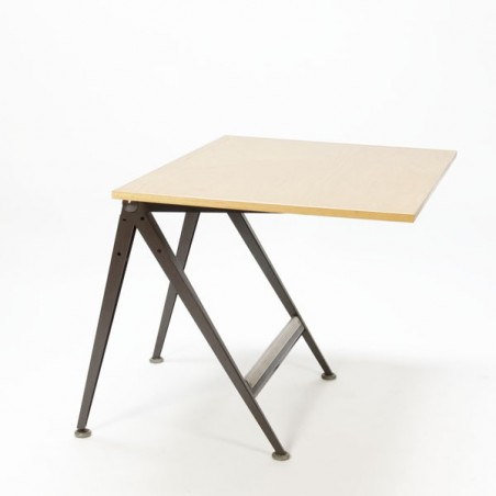 """Friso Kramer en Wim Rietveld """"Reply"""" tekentafel bruin"""