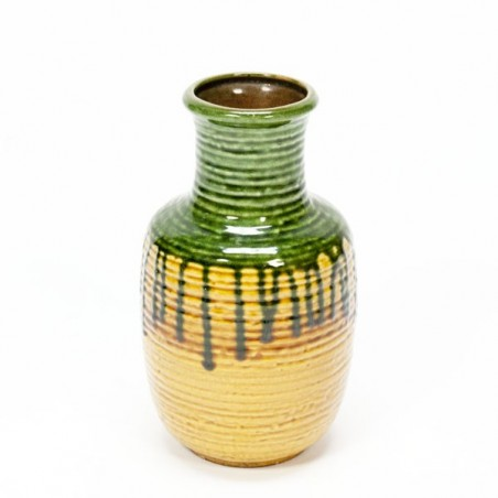 West Germany vase green/ yellow