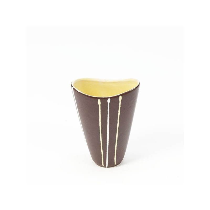 Small brown vase