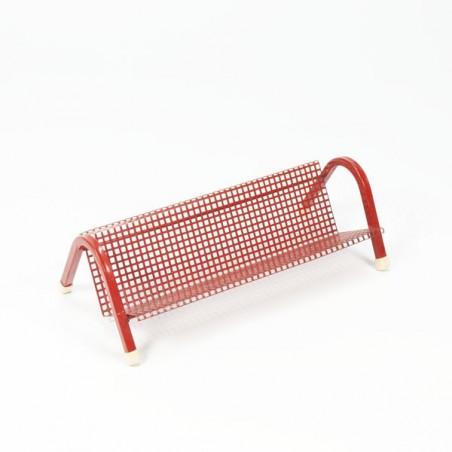 Rood geperforeerd metalen rekje