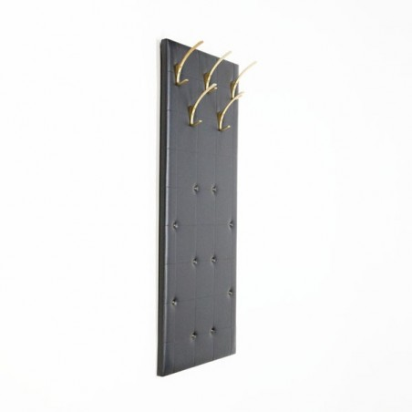 Wall coat rack with skai