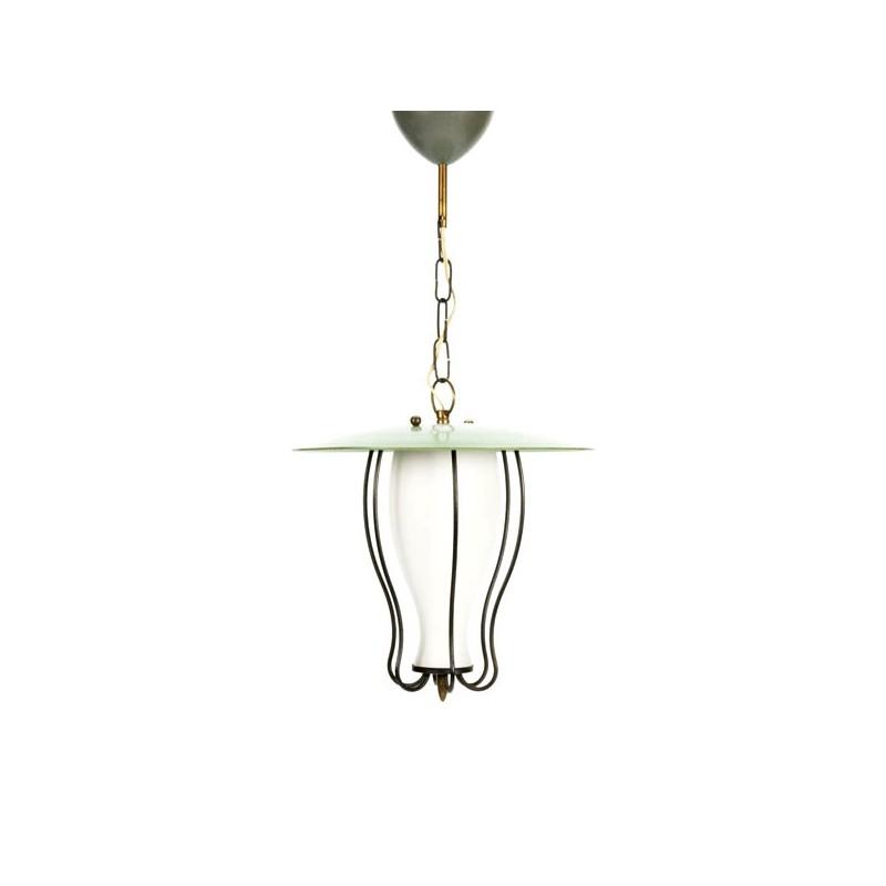 Hanglamp 1950's met groen detail