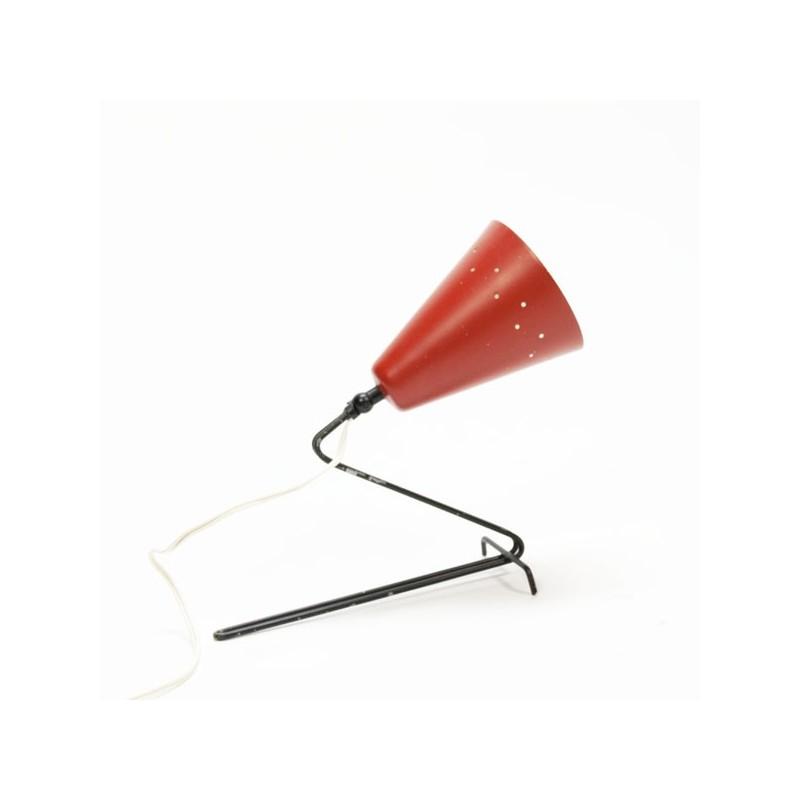 Tafel-/wandlamp 1950's rode kap