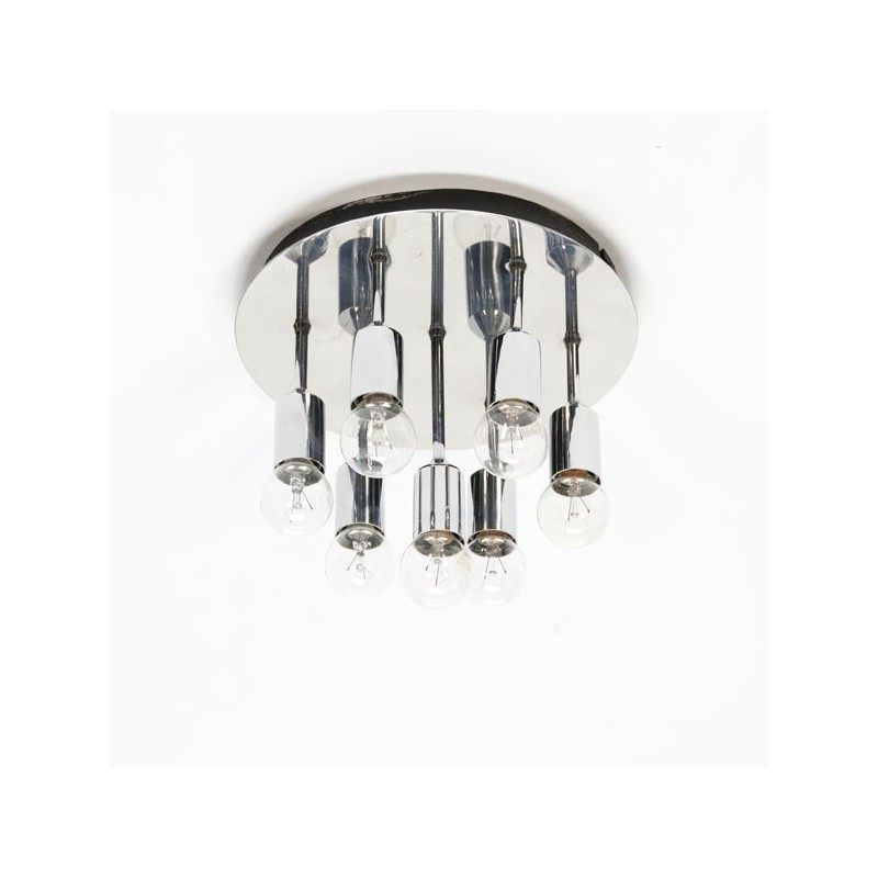 Chromen plafondlamp 1970's