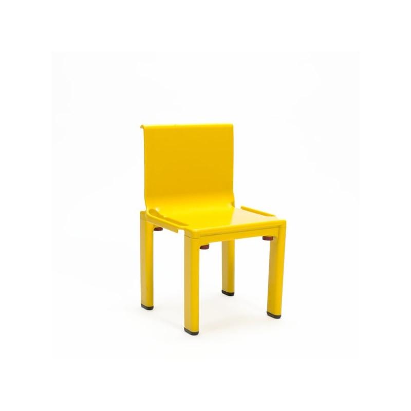 Yellow plastic children's chair by Kartell