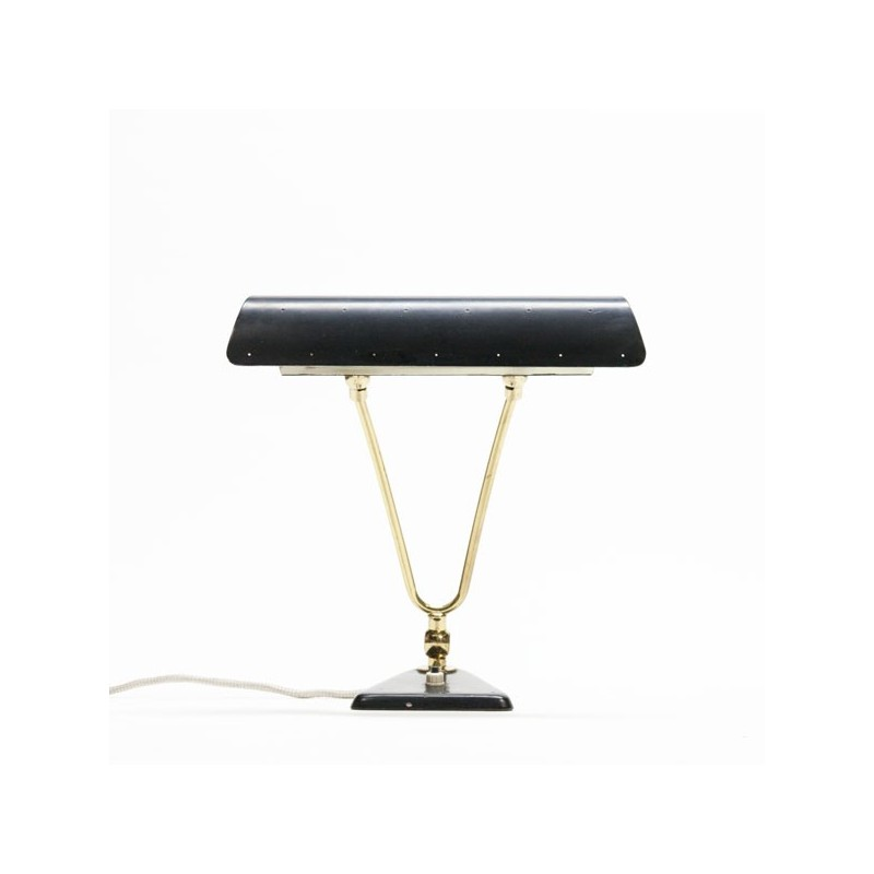 Black/ brass table lamp