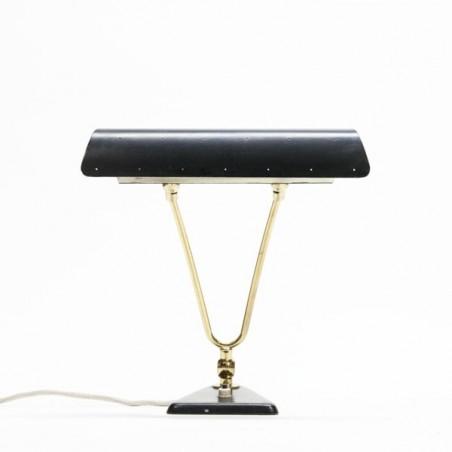 Zwart/ koperen tafellamp