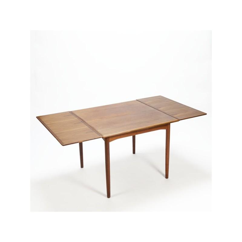 Uitschuifbare Eettafel Vierkant.Deense Design Eettafel Vierkant Retro Studio