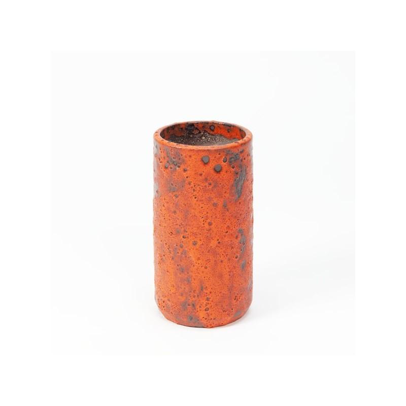 West Germany vase orange