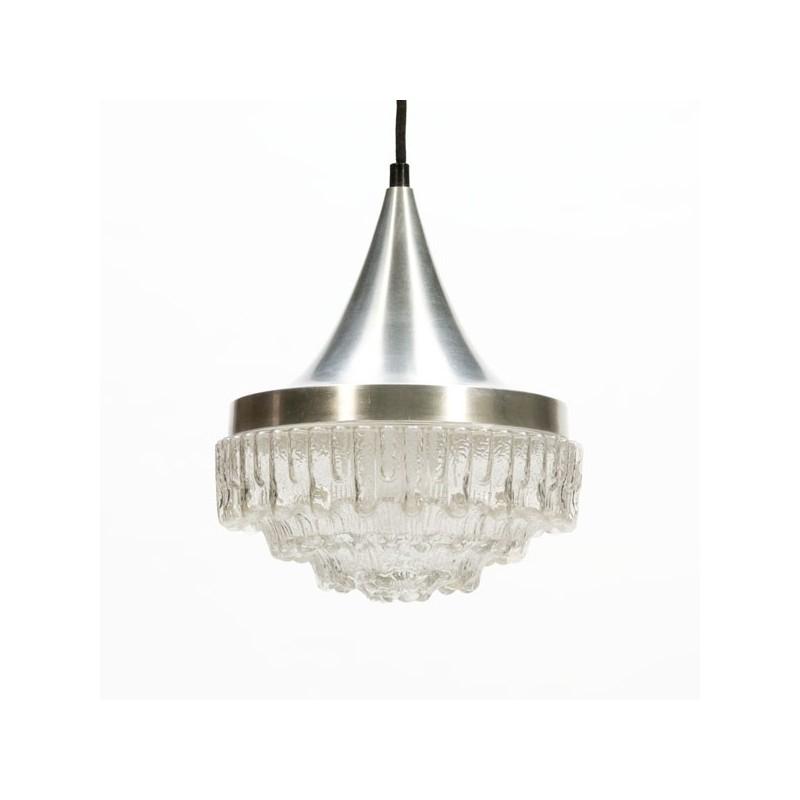 Aluminium/ glazen hanglamp