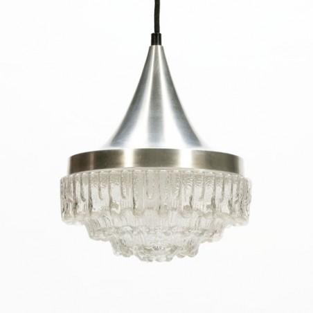 Aluminum/ glass pendant