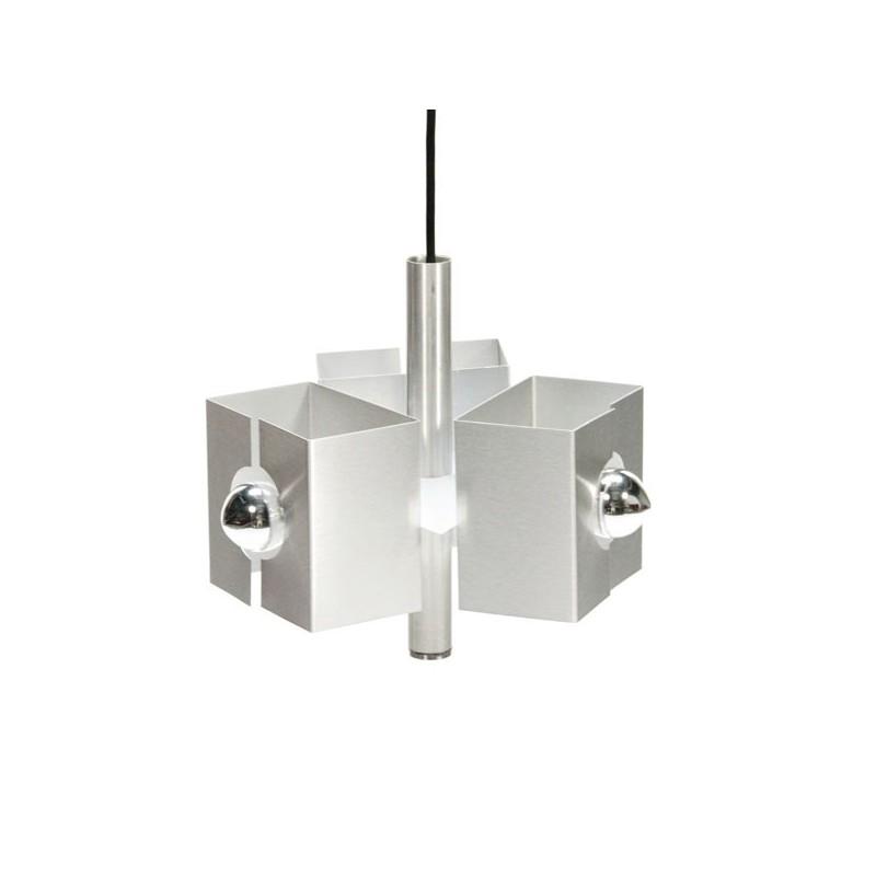 Aluminium hanglamp 1970's