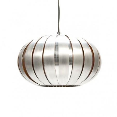 Lamellen hanglamp 1970's