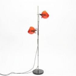 Standing floor lamp with orange balls