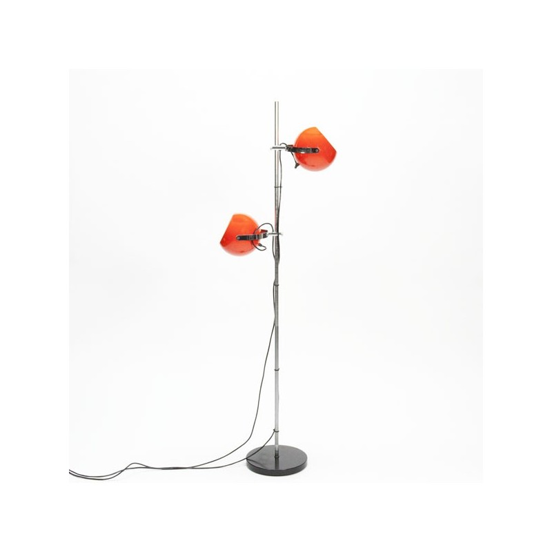 Standing floor lamp with orange balls