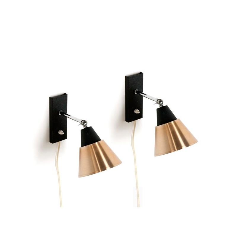 Set van 2 wandlampen 1960's