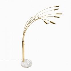 Large Italian brass arc lamp