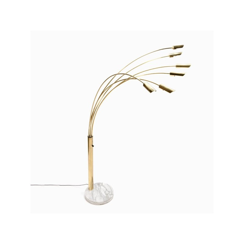 Large Italian brass arc lamp