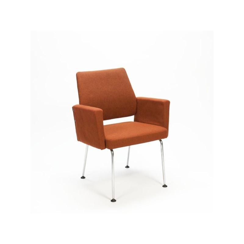 Bureaustoel met roestbruine bekleding