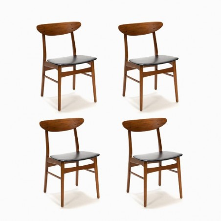 Set of 4 Farstrup chairs model 210