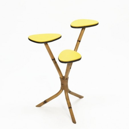 Bamboo side table 1950's