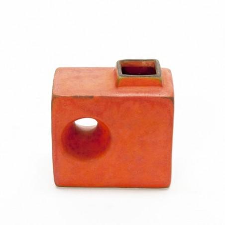 Small West Germany vase orange