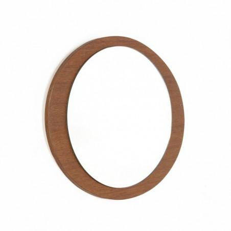 Ovale teakhouten spiegel