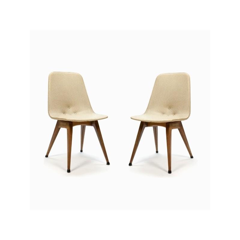 Set van 2 stoelen 1950's