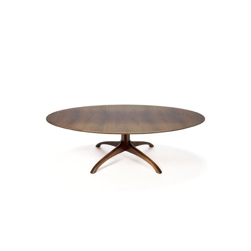 Grote ovale salontafel in palissanderhout
