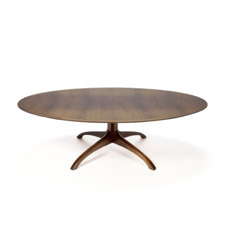 Large oval coffee table in rosewood