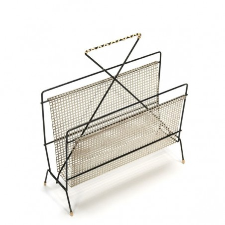 Perforated metal magazine holder