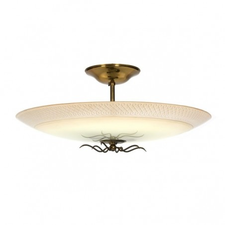 Large glass ceiling lamp 1950's
