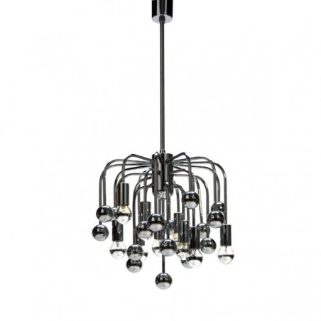 Chromen hanglamp met bolletjes