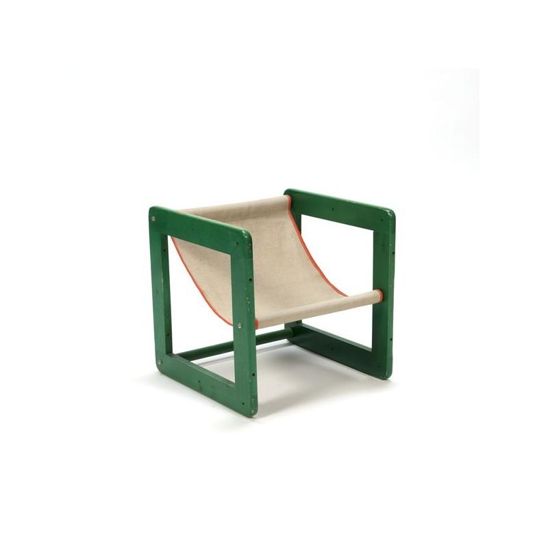Green children's chair