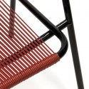 Black/ red wire chair